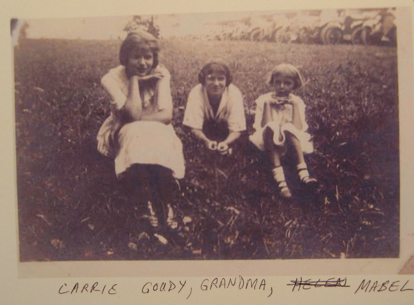 Carrie Goudy, Mabel Mary Martha Richie Highlands Goudy, and Mabel