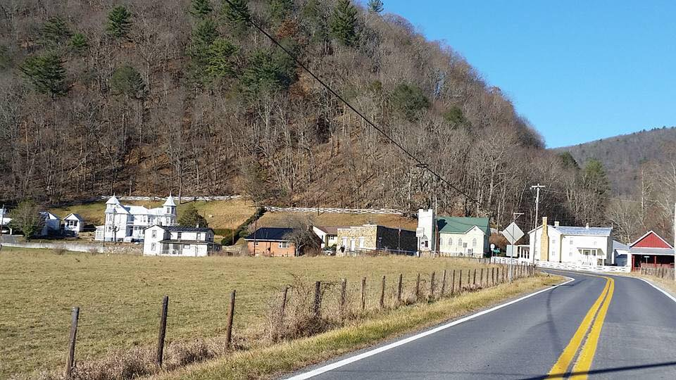Approaching Sugar Grove, WV